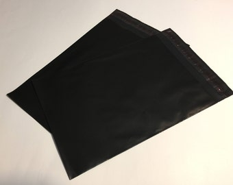 100 9x12 BLACK Poly Mailers Self Sealing Envelopes Shipping Bags Halloween