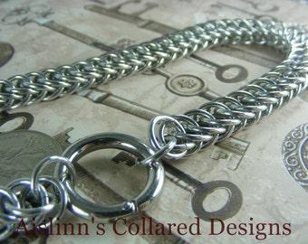 Heavy Duty H-P BDSM Gorean Slave Collar Choker Necklace