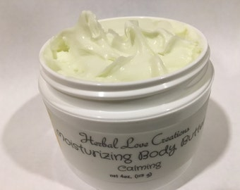 Body Butter//moisturizing//skin softening//homemade lotion//natural ingredients//