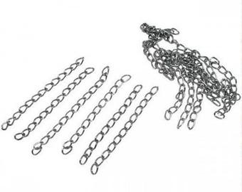 40 extension chain, stainless steel, gunmetal