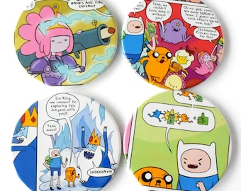 Adventure Time Comic Book Magnets Set of 4