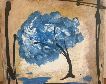 Blue Abstract Tree