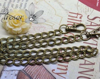 48cm, Bronze chains, clasps, bag, jewels, manual
