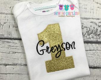 Golden Birthday Outfit - 1st Birthday Boy Shirt - 1st Birthday girl Outfit - Golden Birthday Shirt - 2nd birthday gold - Golden birthday