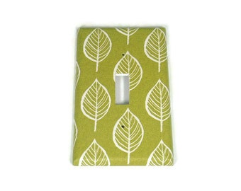 Switchplate Light Switch Cover Outlet in Olive and Leaves  (220)