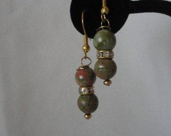 Gold Plated Hooks Ukanite Earrings.