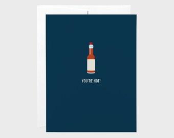 Hot Sauce | Funny Valentines Card | Love Card | Anniversary Card | Boyfriend Card | Girlfriend Card | Funny Card