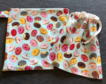 Wet and Dry Bag Set -  Donuts