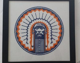 University of Illinois -- Chief Illiniwek -- Counted Cross Stitch Chart Patterns, 3 sizes!