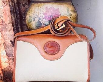 Vintage Dooney And Bourke All Weather Leather Handbag // Dooney Bourke Crossbody Bag // Made in USA