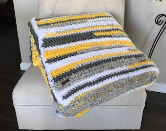 Chunky  Multi-textured Throw Blanket