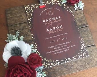 Mariage cadeau invitation, cadeau de mariage, cadeau de mariage personnalisé, cadeau de mariage personnalisé, cadeau de douche de mariage, faire-part de mariage