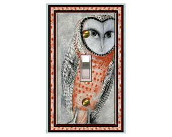 0142X - Owl Design light switch plate - - mrs butler switchplates -