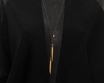 Bullet Necklace For Men, Gold Bullet Pendant, Mens Bar Necklace