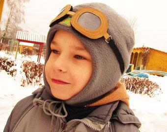 Cap Warmer,Winter Hat, ear flaps,Hat helmet for children,kids aviator hat,Baby,Toddler,Child,fur bomber hat Aviator warm,Kids aviator hat.