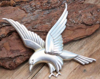 Silver Sterling Brooch Pin Eagle CORO Jewellery European Vintage USA Norseland Coro Brooch Sterling Silver Bird Silver Jewelry Vintage Brooc