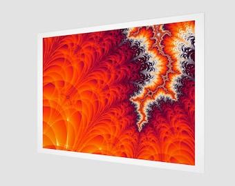 Lightning Bolt Fractal Art Print