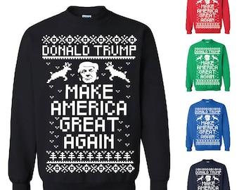 Donald Trump Make America Great Again Ugly Christmas Sweater Christmas Sweatshirt