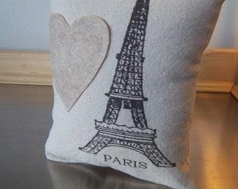 Paris pillow Paris throw pillow birthday gift ideas romantic cushion cotton canvas pillows gift women cottage chic decor French home decor