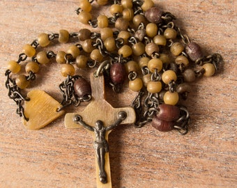 Vintage Antique Irish Horn Rosary Beads