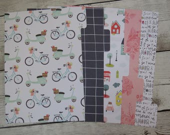 Retro Bicycles - Planner Dividers - A5 Dividers - Divider Set
