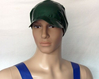 Latex chlorinated cap beanie with umbrella