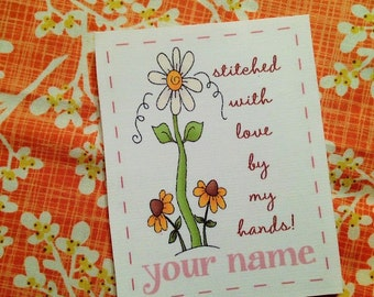 By My Hands Quilt Label