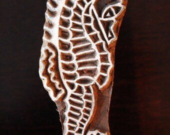 woodblock stamps, Indian Wood Stamps, Blockprint Stamps, Tjaps, Pottery Stamps - Sea Horse
