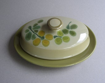 Franciscan Pebble Beach Earthenware Covered Butter DIsh