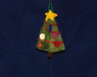 Needle Felted Christmas Tree Ornament