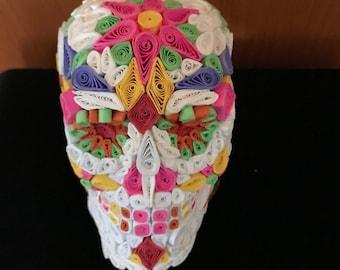 Sugar Skull 3D Quilled Paper