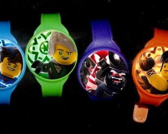 Ninja - 16 Mini Flying Disks + 16 Watches  -Toys Birthday Prizes Pinata Loot  Supplies masks grab bag