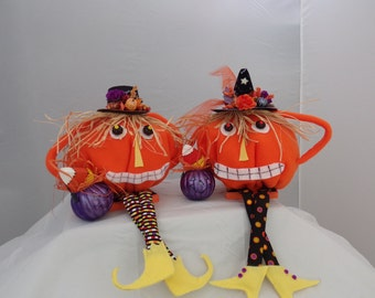 Mr.and Mrs. Pumpkin Heads