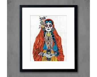 Señorita (Paprika) Art Print by Dolan Geiman