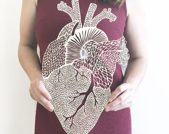 Anatomical Heart Lasercut Wooden Artwork
