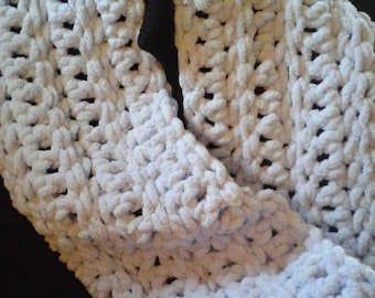 Chunky chenille infinity scarf