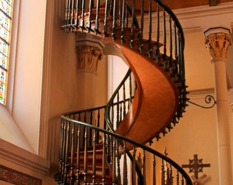 Photo Greeting Card (Blank Inside) - Miraculous Staircase - Loretto Chapel