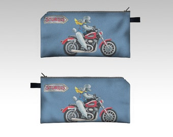Special order for Debi 2 Makeup Pencil Case Bag pouch 7x4""