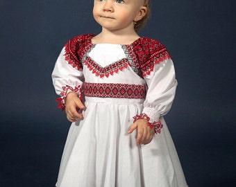 Vyshyvanka ukrainian embroidery. Ukrainian Children's Dress embroidery. Traditional Dress for baby girls. Ukrainian dress. Vyshyvanka girls
