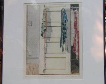 1979 NY Contemporary Artist Linda Adato Tie Up Etching No. 6 of 50