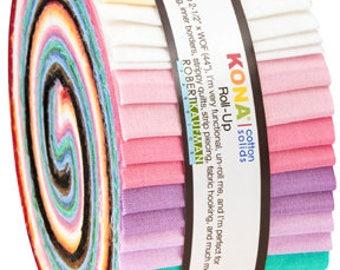 30's Palette Kona Cotton JELLY ROLL from Robert Kaufman by Darlene Zimmerman - 40 pieces (2.8 yards) - RU-583-40