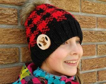 Jack, Lumberjack hat pattern, knitting pattern, hat pattern