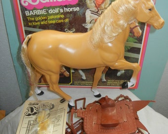 Vintage Barbie Horse Palomino Dallas, Mint in Box, Never Used