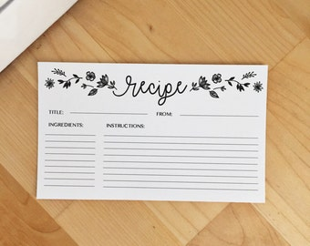 Recipe Cards - Set of 10