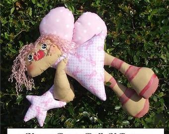 Primitive Flying Fairy Cloth Doll Ornie epattern PDF Digital Instant Download