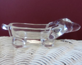 Solid Glass Dog Jewelry Holder