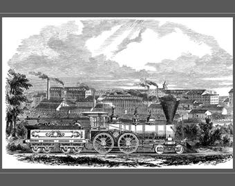 Early American Locomotive