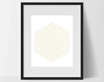 Geometric Print Art, Geometric Art, Geometric Printable, Digital Art Print, Geometric Print, Instant Download, Modern, Yellow