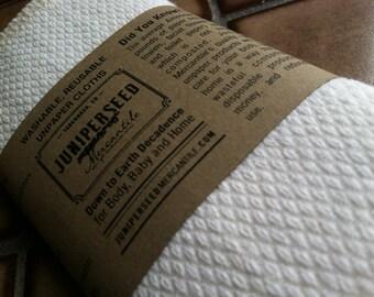 En coton bio écru piqué Unpaper serviettes - vous choisissez taille et la quantité