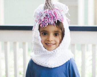 Hooded Unicorn Cowl--Children's